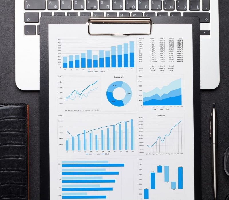 office-workplace-table-with-charts-86CUWDT